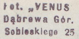 pieczątka VENUS